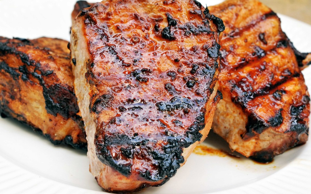 Ancho Infused Maple Pork Chops
